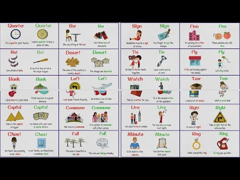 HOMOGRAPHS - Confusing Words With Same Spelling But Different Meaning/Pronunciation Mp3
