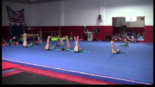 Extreme Gymnastics Winter Wonderland 2013 Level 3 Performance