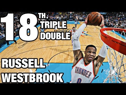 Russell Westbrook 18th Triple Double | 24 Pts, 12 Ast, 13 Reb | 01.11.17