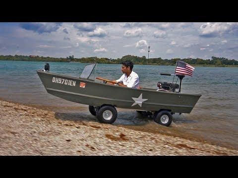 HOMEMADE Boat Car!! (Amphibious Vehicle gokart)
