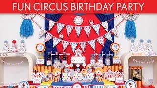 Fun Circus Birthday Party Ideas // Fun Circus - B110