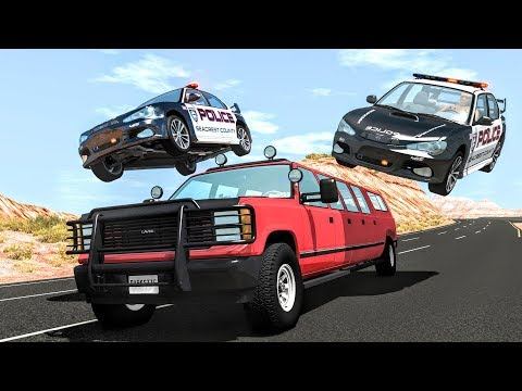 Crazy Police Chases #72 - BeamNG Drive Crashes