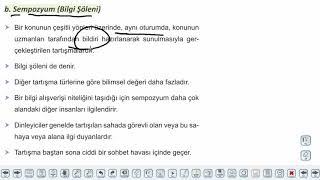 Eğitim Vadisi AYT Edebiyat 34.Föy Sözlü Anlatım Türleri Konu Anlatım Videoları