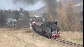 preview picture of video 'Pociąg parowy w Wojcieszowie'