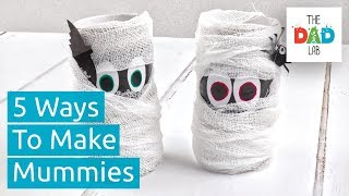 5 Amazing DIY Mummy Ideas | Kids Halloween Crafts