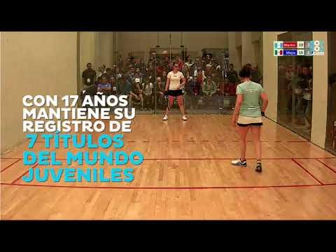 Ana Gabriela Martínez, subcampeona en el Mundial junior de raquetbol