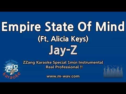 Jay-Z-Empire State Of Mind (Ft. Alicia Keys) (1 Minute Instrumental) [ZZang KARAOKE]