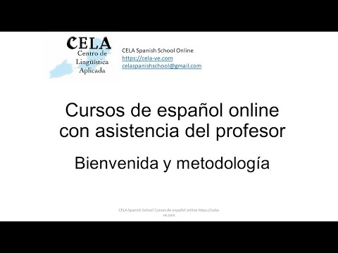 CELA Spanish School Online Information about complete Online Spanish Courses with teachers help
