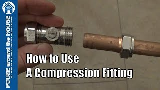 How to use a compression fitting. Compression plumbing tutorial. Plumbing for beginners!