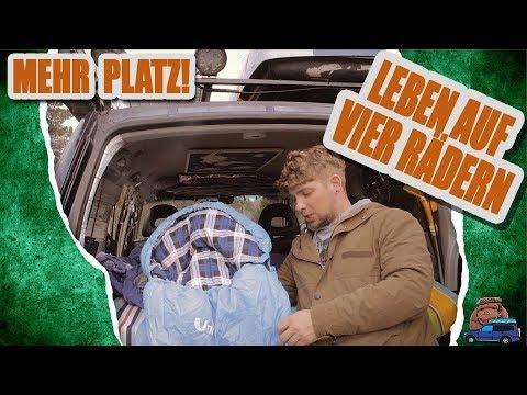 Platzsparen beim Bettzeug! | viele möglichkeiten dank Deckenschlafsack | Pajero 4x4 Reisemobil