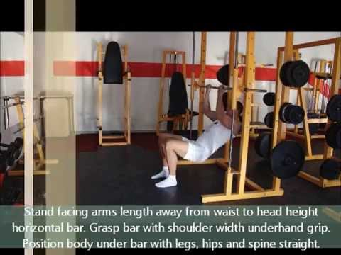 Underhand Inverted Row (high bar) with Body Tester