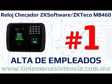 Reloj Checador MB460 [Parte 1] - Alta de Empleados | ZKTeco | Huella Digital | Facial