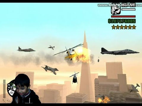 (GTA San Andreas): Interesting Helicopter Fight with Fighter Plane!!