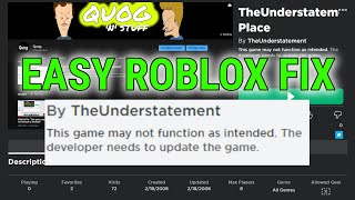 how to fix roblox when you cant play games 2019 - TH-Clip