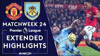 Manchester United v. Burnley | PREMIER LEAGUE HIGHLIGHTS | 1/22/2020 | NBC Sports
