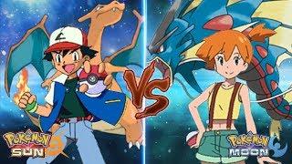 Misty  - (Pokémon) - Pokemon Sun and Moon: Kanto Ash Vs Misty (Kanto Battle)