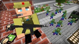 Нашёл выжившего солдата [ЧАСТЬ 16] Зомби апокалипсис в майнкрафт! - (Minecraft - Сериал)