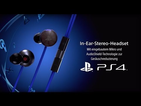 In Ear-Stereo-Headset für PS4