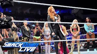 After a broken face and severe concussion forced her out of Survivor Series, SmackDown Women's Champion Becky Lynch makes an unexpected choice as her replacement against Ronda Rousey.  #SDLive  GET YOUR 1st MONTH of WWE NETWORK for FREE: http://wwenetwork.com --------------------------------------------------------------------- Follow WWE on YouTube for more exciting action! --------------------------------------------------------------------- Subscribe to WWE on YouTube: http://bit.ly/1i64OdT Check out WWE.com for news and updates: http://goo.gl/akf0J4 Find the latest Superstar gear at WWEShop: http://shop.wwe.com --------------------------------------------- Check out our other channels! --------------------------------------------- The Bella Twins: https://www.youtube.com/thebellatwins UpUpDownDown: https://www.youtube.com/upupdowndown WWEMusic: https://www.youtube.com/wwemusic Total Divas: https://www.youtube.com/wwetotaldivas ------------------------------------ WWE on Social Media ------------------------------------ Twitter: https://twitter.com/wwe Facebook: https://www.facebook.com/wwe Instagram: https://www.instagram.com/wwe/ Reddit: https://www.reddit.com/user/RealWWE Giphy: https://giphy.com/wwe