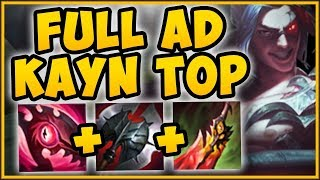 WTF! FULL AD KAYN TOP = INSTA STACK PASSIVE STRAT?? KAYN SEASON 9 TOP GAMEPLAY! - League of Legends
