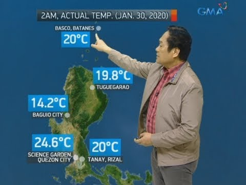 [GMA]  UB: Weather update as of 7:19 a.m. (January 20, 2020)
