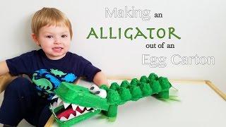 Making An Alligator Out Of An Egg Carton