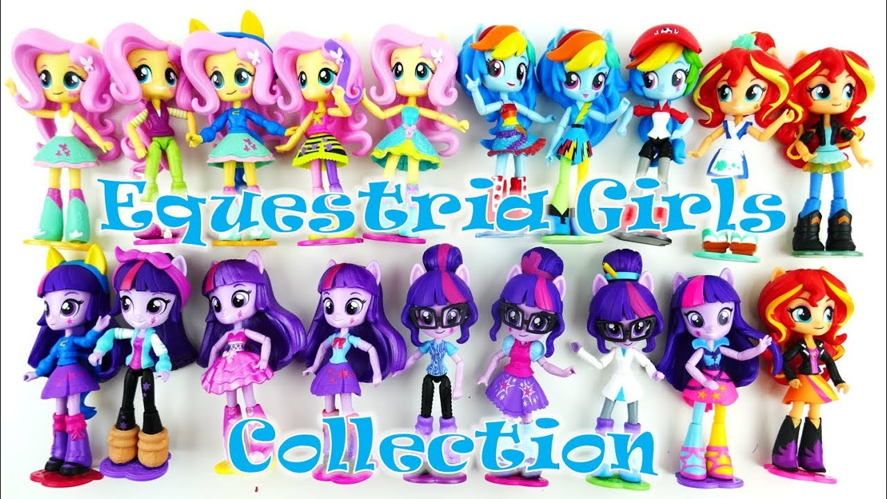 MLP Equestria Girls Minis Doll Collection Twilight Sunset Shimmer Rainbow Dash Fluttershy  Surprise