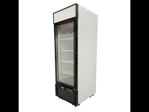 Refrigerador vertical de puerta de vidrio