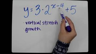 Transformations Of Exponential Functions Tutorial