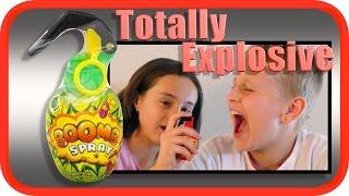 Boomb Spray   Hand Grenade Beverage   GoJo Toys Taste Test