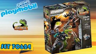 Playmobil SET 70624  DINO RISE   T-REX gegen Roboter  /  Flashback Dino Riders