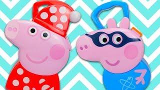 Свинка Пеппа игрушки и сюрпризы для детей. Игрушкин ТВ