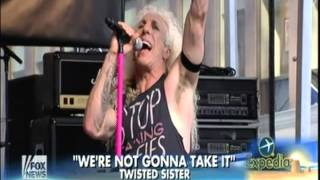 "Twisted Sister -- ""We're Not Gonna Take It"" Fox & Friends 7/25/14"