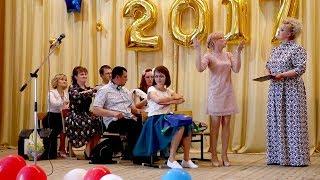 Выступление родителей на выпускном. Школа №3 п. Советский.