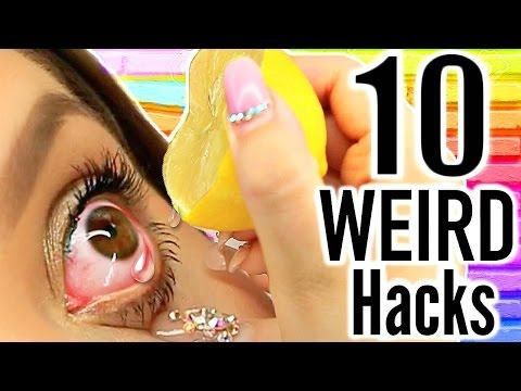 10 WEIRD Life Hacks EVERYONE Should Know!