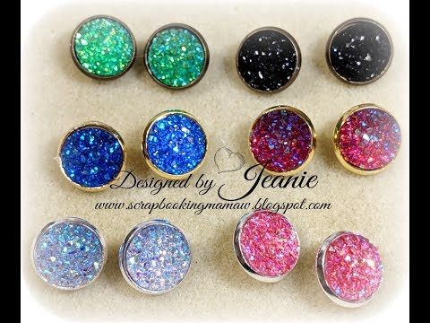 Cabochon Earrings Tutorial and Beebeecraft Product Review