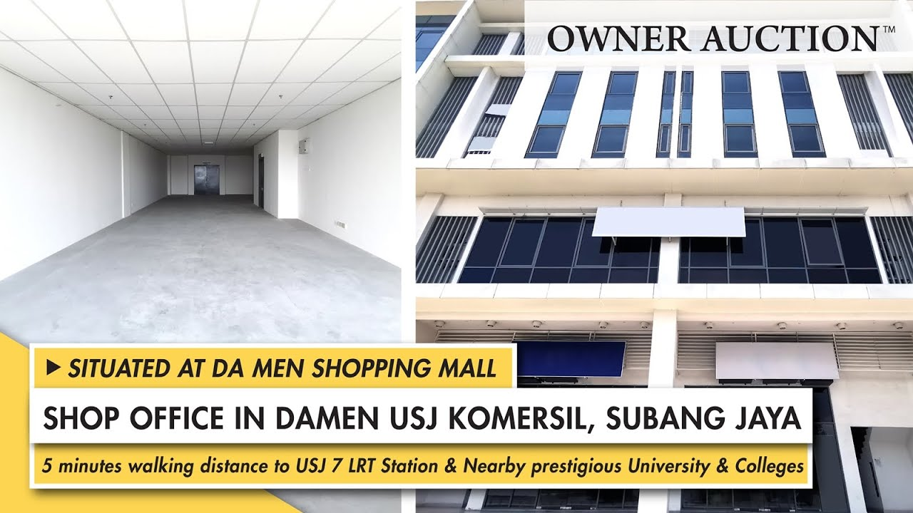 [Owner Auction™] Freehold Shop Offices at Damen USJ Komersial, Subang Jaya put up for Owner Auction