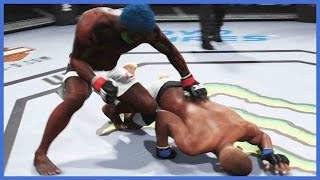 UFC 2 Ultimate Team Gameplay - GETTING BEAT UP IN FRONT OF MY KIDS!!