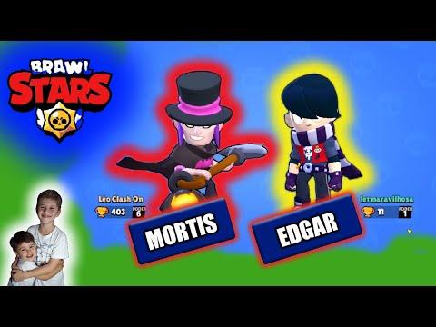 # 010 Leo e Lipe Games Brawl Stars  MORTIS e EDGAR em Batalha  MORTIS and EDGAR