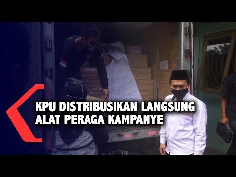 kpu distribusikan langsung alat peraga kampanye
