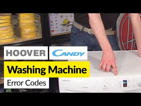 Hoover and Candy Washing Machine Error Codes
