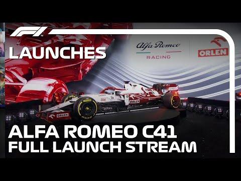 F1 2021 アルファロメオ「C41」新型F1マシンを関係者が解説するライブ配信動画(英語)