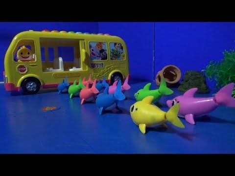 타이니소어, 공룡메카드, 핑크퐁아기상어 키네틱샌드로 핑크퐁 아기상어 무지개 슬라임 풀장 만들기 놀이 #2