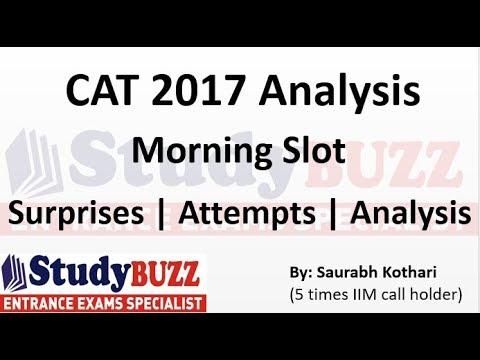 CAT 2017 analysis | Morning slot | Attempts, surprises & analysis