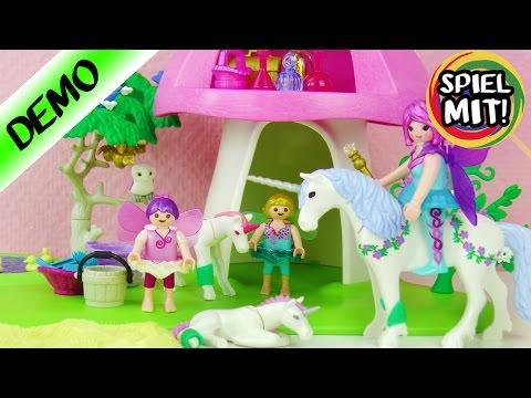 Playmobil FEENWÄLDCHEN mit EINHORN PFLEGE | Krankenstation | Spiel mit mir Kinderspielzeug