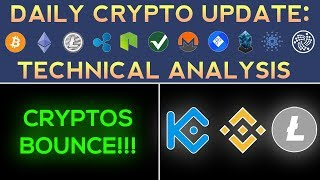 CRYPTOS BOUNCE: LITECOIN, BINANCE COIN, KUCOIN SHARES (1/6/18) Daily Update + Technical Analysis