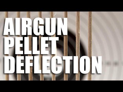 Airgun pellet deflection test