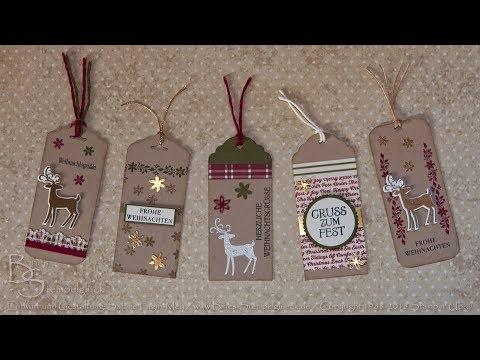 Weihnachtliche Geschenkanhänger Weihnachtshirsch
