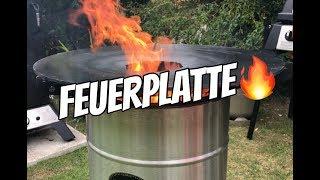 Unboxing der Feuerhand Feuertonne Pyron + Feuerhand Pyron Plate Grillplatte + Einbrennen - 030 BBQ