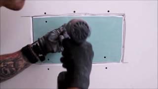 איך לתקן חור גדול בקיר גבס